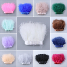 1meter/lot Fluffy Marabou Turkey Feathers Trim Fringe for Wedding Dress Clothing Sewing Decoration plumes Craft wholesale 4 8cm 1 6 3 2 inch pheasant feathers for crafts clothing costume feathers for jewelry making decoration natural plumes