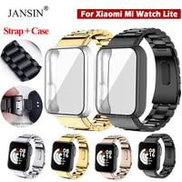 Correa de reloj Starp + funda protectora para Xiaomi Mi Watch Lite, Correa de acero inoxidable para Xiaomi Mi Watch Lite