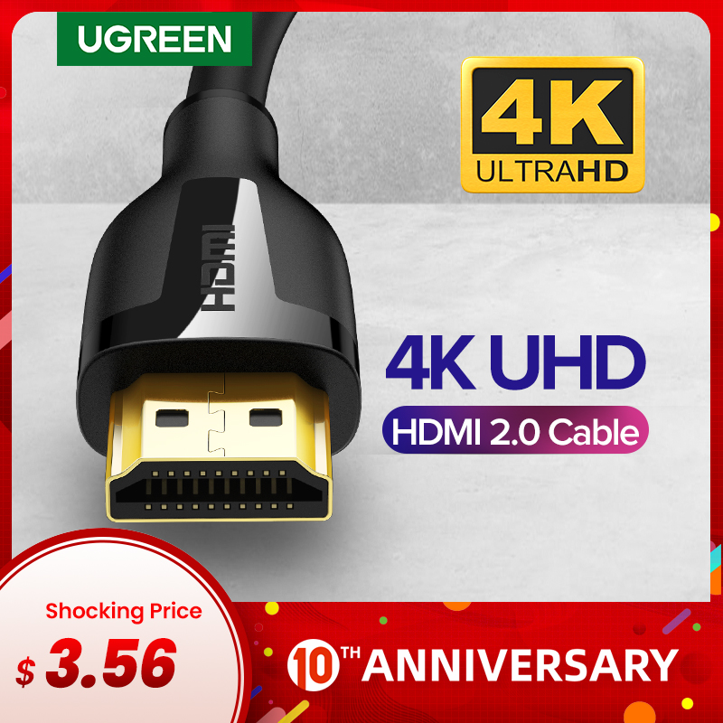 Ugreen HDMI Cable 4K 2.0 Cable for Apple TV PS4 Splitter Switch Box HDMI to HDMI Cable 60Hz Video Audio Cabo Cord Cable HDMI 4K