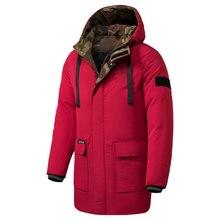 Oumor 8XL Мужская зимняя новая длинная Повседневная камуфляжная куртка с капюшоном, мужские парки для улицы, модные теплые толстые армейские пальто с карманами, мужские парки