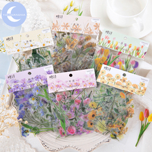 YueGuangXia Natural Sceneries Series Die Cutting Stickers Scrapbooking Planner Bullet Journal Deco Stationery 6 Designs