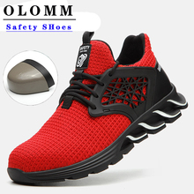 Breathable Safety Shoes Men Light Weight Outdoors Climbing Work Shoes