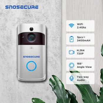 SNOSECURE Smart WiFi IP Camera Doorbell 720P Intercom Alarm for Home Wireless Video Doorphone For Apartment Day And Night Vision