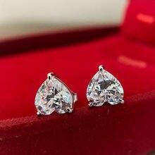 100% s925 серебро огранка «сердце» создан муассанит драгоценный