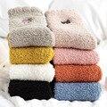 Толстые носки для зимы, женские коралловые флисовые японские носки, флисовые Носки, теплые носки с вышивкой в виде белки для пола