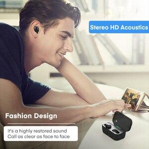 Image 4 - TOPK TWS Bluetooth 5.0 słuchawki Stereo HD z redukcją szumów słuchawki gamingowe zestaw głośnomówiący z słuchawkami w uchu