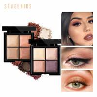 STAGENIUS 4 Farben Matte Lidschatten Pallete Augen Make-Up Lidschatten Luxus Qualität Glitter Lidschatten Make Up