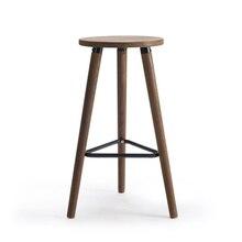 Vintage industrial taburete bar antiguo 66,5 cm de altura, asiento de madera de estilo Loft muebles de barra de Bar taburete 3 pierna de madera maciza