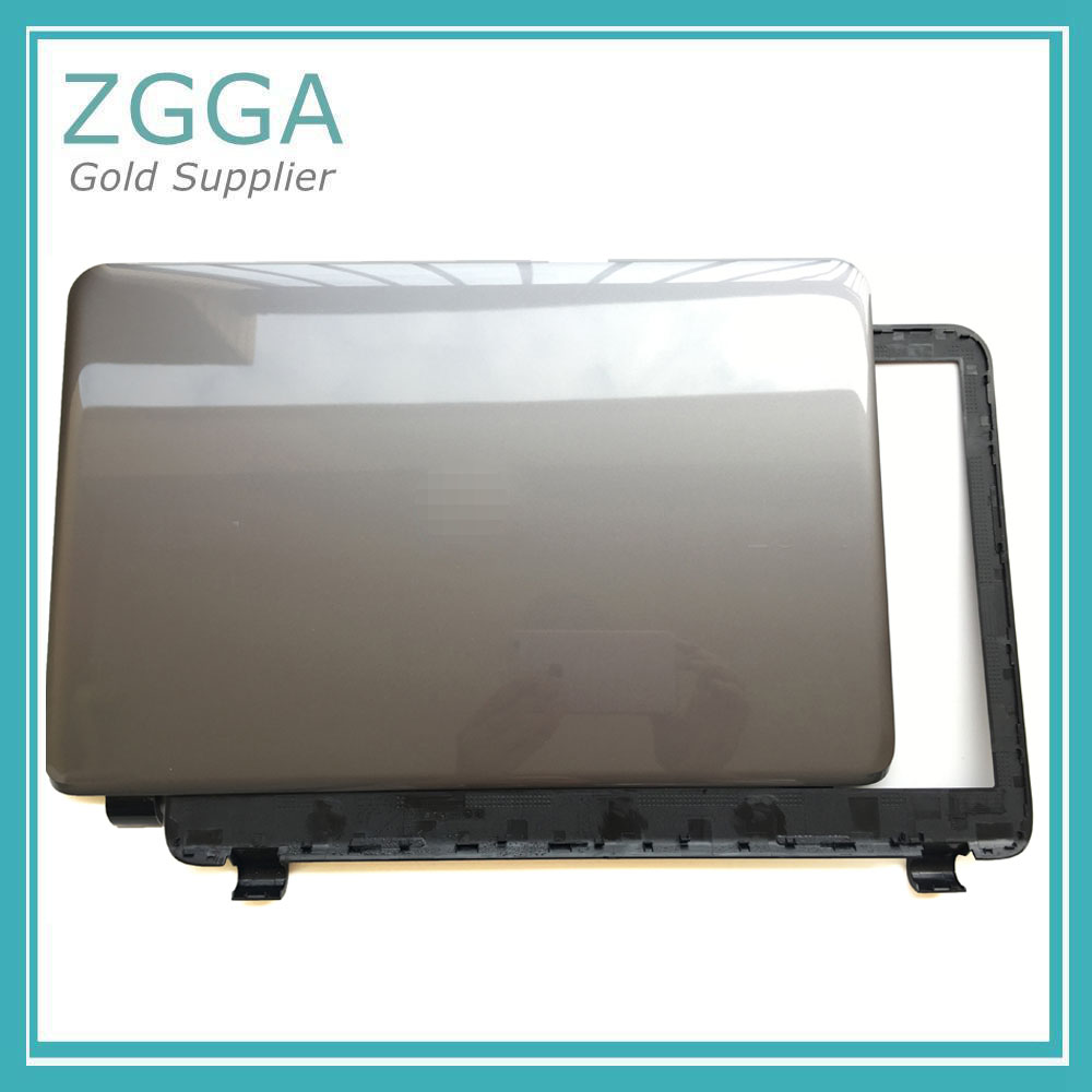Genuine New For <font><b>HP</b></font> <font><b>250</b></font> 255 256 <font><b>G3</b></font> 15-G 15-H 15-R 15-T 15-Z Laptop LCD Rear Lid <font><b>Top</b></font> <font><b>Cover</b></font> &Bezel Frame <font><b>Case</b></font> Gray 760963-001 image