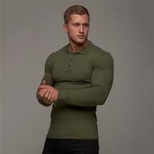 New Brand Cotton Breathable Men's Polo Shirt Fitness Men Cotton Long Sleeve Poloshirt Brands Clothing Autumn Mens Polo Shirts