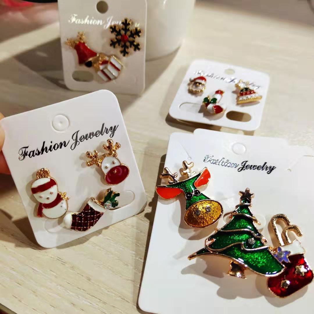 3 шт./компл. веселое Рождество броши рождественские носки с рождественским рисунком, Прямая продажа елка лося эмаль значок маленький Брошь д...