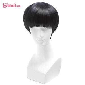Image 1 - L email peruk Yepyeni Mob Psiko 100 Shigeo Kageyama Cosplay Peruk Kısa Siyah Isıya Dayanıklı Sentetik Saç Peruk cosplay Peruk