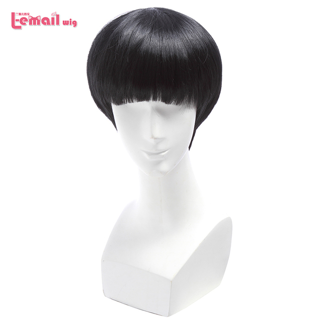 L email peruk Yepyeni Mob Psiko 100 Shigeo Kageyama Cosplay Peruk Kısa Siyah Isıya Dayanıklı Sentetik Saç Peruk cosplay Peruk