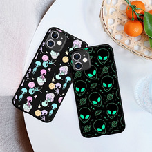 Aesthetics Cute Cartoon alien space Soft TPU Silicone Phone Case For iPhone 8 7 6 6S Plus XR 10 11 Pro max X XS Max 5 5S SE webbedepp jack skellington silicone soft case for iphone 5 se 5s 6 6s plus 7 8 11 pro x xs max xr