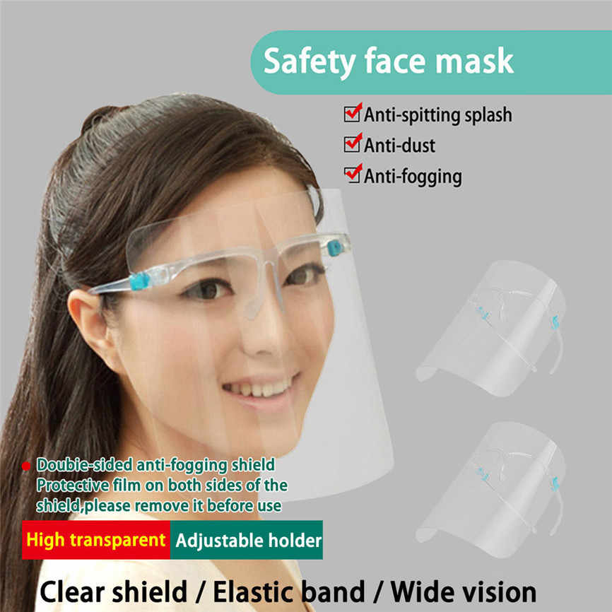 Faceshield Transparent Full Face Cover Safety Protective Film Tool Anti-Oil 2pcs