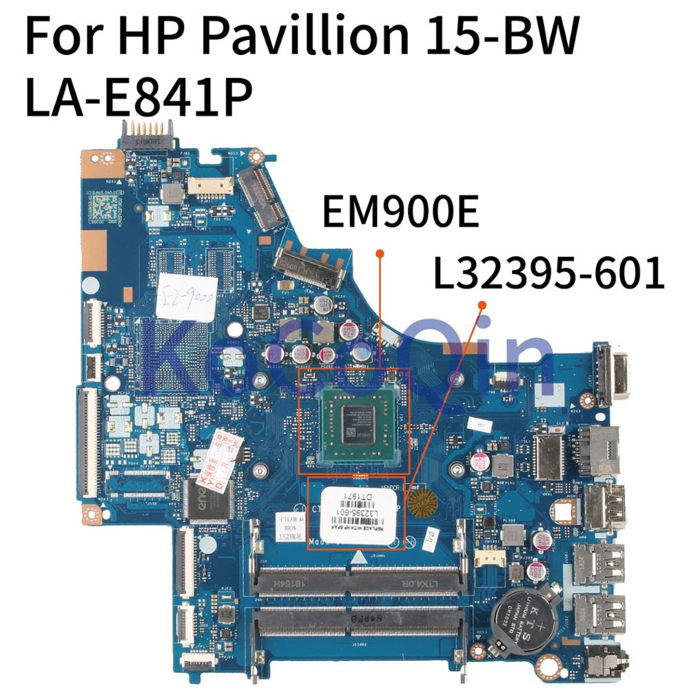 KoCoQin Laptop motherboard For HP Pavillion 15-BW Core EM900E Mainboard LA-E841P L32395-601 DDR4