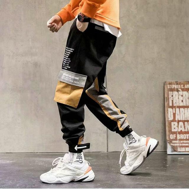 Streetwear Men's Multi Pockets Cargo Harem Pants Hip Hop Casual Male Track Pants Joggers Trousers Fashion Harajuku Men Pants 3