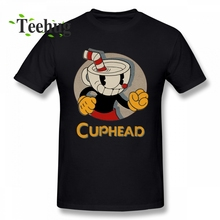 100% Cotton Game Cuphead T Shirt Men Leisure Streetwear For Male O-neck