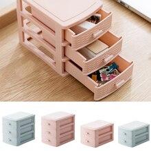 Organizador de alta calidad cajón plástico contenedor para maquillaje cosmético caja organizadora multifunción Mini caja de almacenamiento de escritorio para el hogar