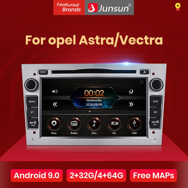 Junsun Android9.0 GPS RDS 2 + 32GB opcjonalnie dla opla Astra Vectra Corsa Antara Vivaro Zafira Meriva 2 din radioodtwarzacz samochodowy odtwarzacz DVD