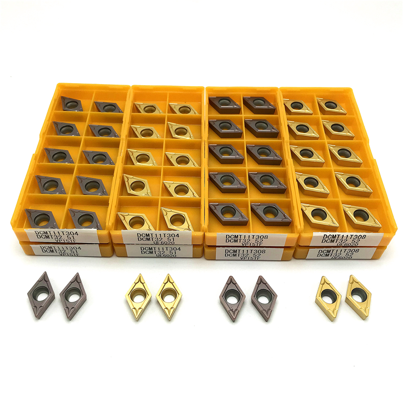DCMT070204 DCMT11T304 DCMT11T308 Carbide Inserts Internal Turning Tool Metal Lathe Tools CNC Tool Hard Alloy Turning Insert