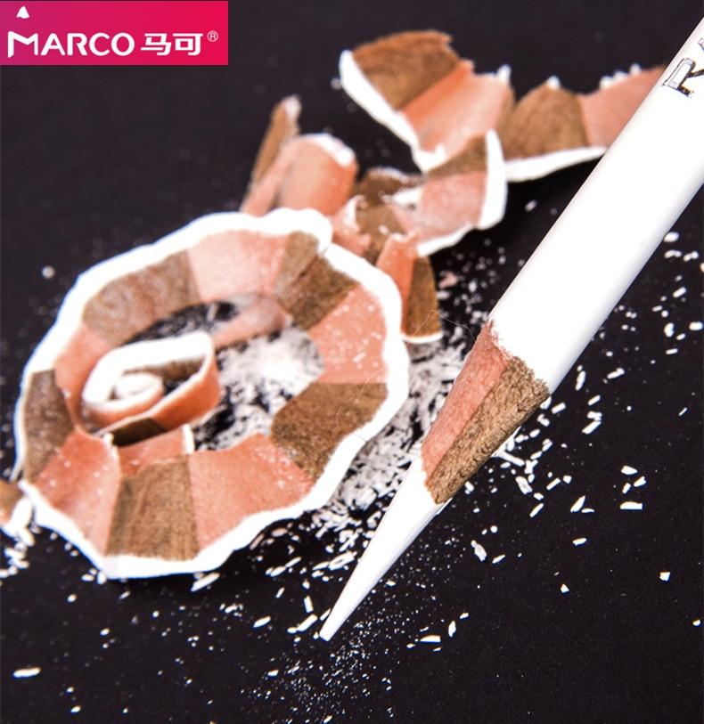 Marco черный/белый/коричневый темно-серый маркер эскиз карандаш комплект, принадлежности для живописи профессиональные инструменты для рисо...