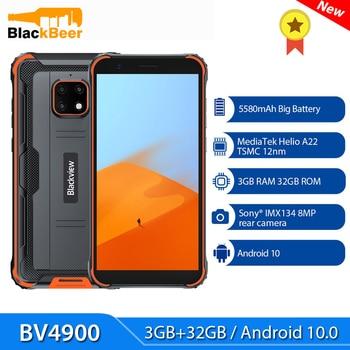 Перейти на Алиэкспресс и купить Blackview BV4900 5,7 дюймов Android 10 смартфон IP68 прочный Водонепроницаемый 3 ГБ + 32 Гб мобильный телефон 4 ядра мобильный телефон 5580 мАч NFC