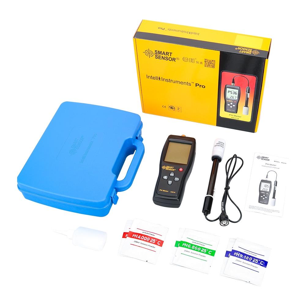Windy5 Smart Sensor AS218 pH m/ètre num/érique 0,00~14.00pH humidit/é Instrument de Mesure de leau du Sol PH Acidit/é Tester