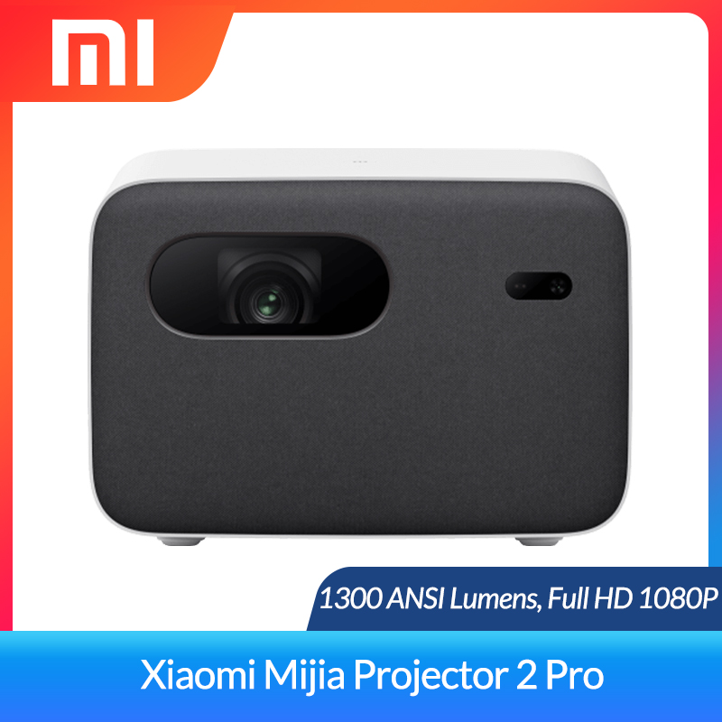 Xiaomi Mijia Projector 2 Pro 1080P DLP Projector 1300 ANSI Support 4K Video TV Home Theater Full HD HDR10 Android Wifi Beamer