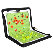 Teaching Magnetic Foldable Portable Demonstration Coaching Training Guidance Plate Soccer Tactic Board Noting Marker PU Football