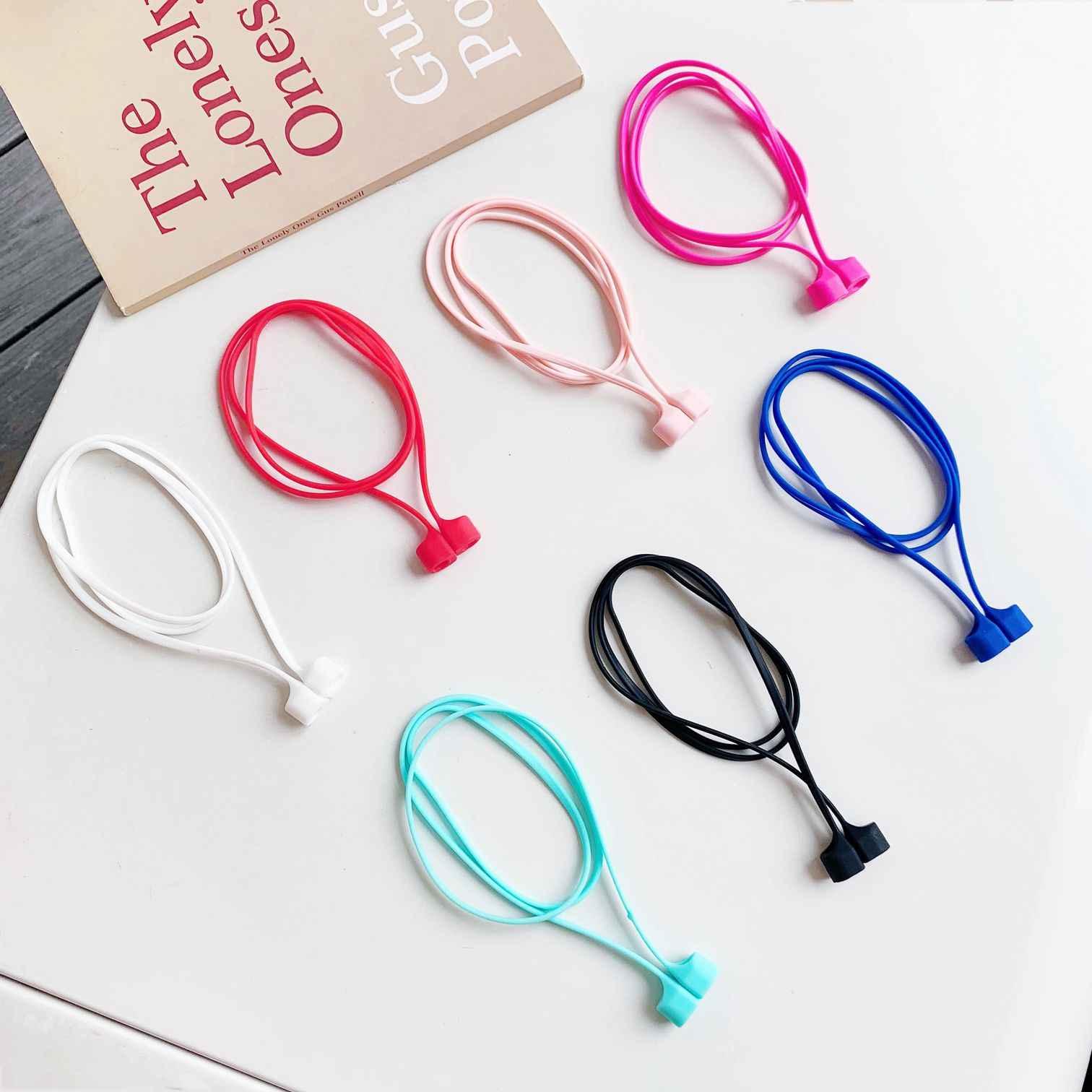 Para airpods, auriculares inalámbricos, cordón antipérdida de silicona para airpods i12 i9s tws i7 i10 i11 i30, Correa magnética anti-perdida