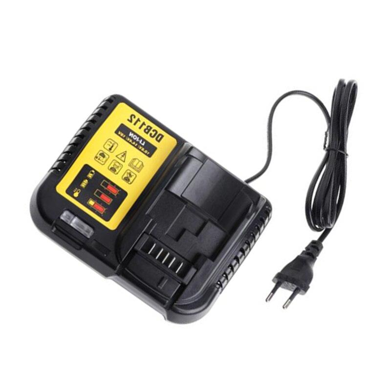 Dcb112 Li-Ion Battery Charger For Dewalt 10 8V 12V 14 4V 18V Dcb101 Dcb200 Dcb140 Dcb105 Dcb200 Eu Plug Black