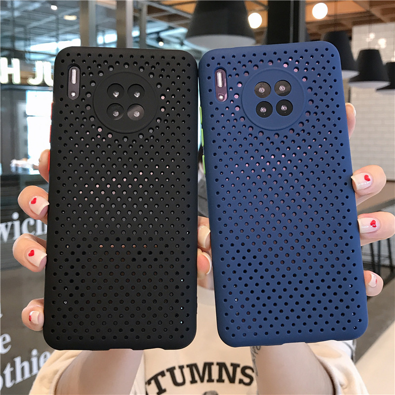 Heat Dissipation Breathable Cooling Phone Case For Huawei P40 P30 Pro Mate30 Pro Nova5i Pro P40 P30 Camera Protection Soft Cover
