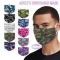 100 шт./лот взрослых Пейсли камуфляж одноразовая маска для лица Маска Регулируемый Сафет защиты моющиеся маска рот крышка mascarillas