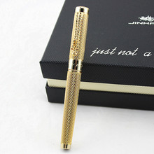 JINHAO 1200 Noblest silver with golden Dragon clip fountain pen