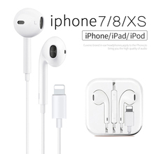 Original Music In Ear Wired Earphones for lightning Earbuds with Microphone and Volume Control for i