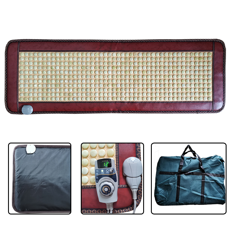 150*50CM Natural Real Jade tourmaline Mat Cushion Therapy Korea Far Infrared Heating Mattress Relief Back Pain Gift for Parents image