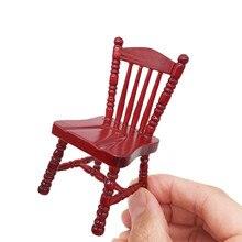 Hiinsts Vintage Mini casa de muñecas muebles tallados sillas miniatura niños simulan jugar juguetes casa de muñecas accesorios juguetes para niños