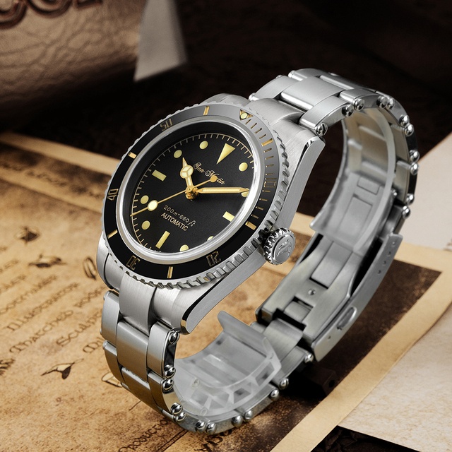 San Martin Diver Watch 6200 Retro Water Ghost Luxury Sapphire NH35 Men Automatic Mechanical Watches 20Bar Waterproof Luminous 4