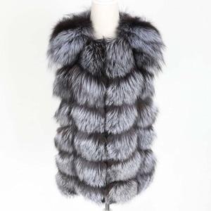 Image 3 - OFTBUY 2020 새 봄 겨울 자켓 여성 리얼 폭스 모피 민소매 조끼 코트 블랙 v 넥 두꺼운 따뜻한 Streetwear 겉옷 캐주얼