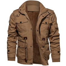 Winter Military Jacket Men Casual Thick Thermal Coat Army Pilot Jackets Air Force Cargo Outwear Flee