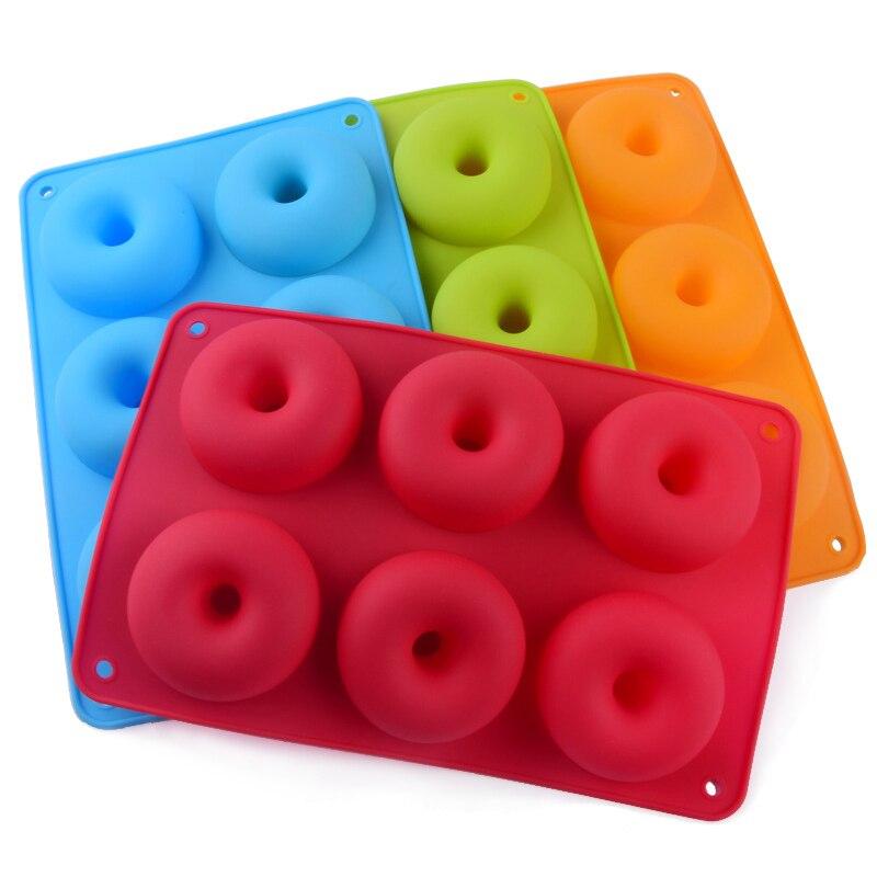 Силиконовая форма для пончиков, форма для клубничного торта, антипригарная форма для конфет, пончиков, сковорода для выпечки, инструменты д...