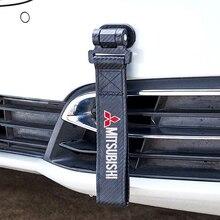 Voor Mitsubishi Ralliart Asx Lancer Pajero Outlander Eclipse Galant Auto Riem Sticker Riem Decoratie Koolstofvezel Auto Sleepkabel