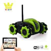 Wifi App Gesteuert Roboter Spielzeug Cloud Rover Fernbedienung Tank mit FPV HD Kamera RC Fahrzeug VR Drahtlose Automatisch Aufladen