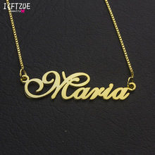 лучшая цена Custom Jewelry Personalized Men Name Necklace Women Ketting Silver Gold Rose Box Chain Choker Necklace Birthday Gift Erkek Kolye