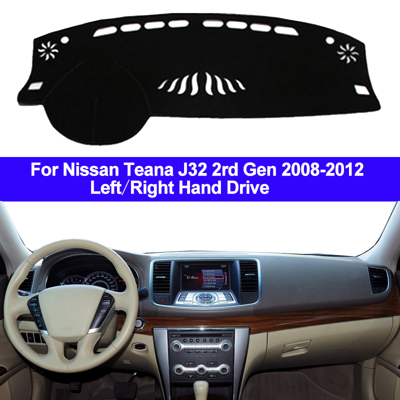 Car Auto Dashboard Cover Dashmat Carpet cape Cushion Pad Sun Shade 2 Layer For Nissan Teana J32 2rd Gen 2008 2009 2010 2011 2012 image