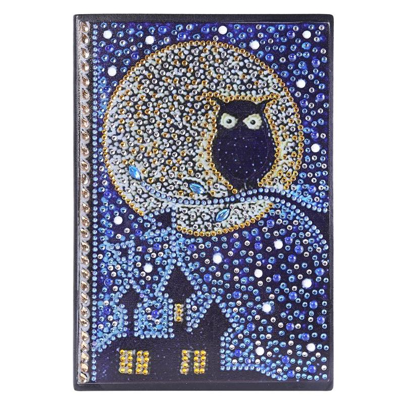 DIY Diamond Painting Notebook Special Shaped Diamond Vintage Animal Pattern 50 Pages A5 Painting Book Crafts Children Gift