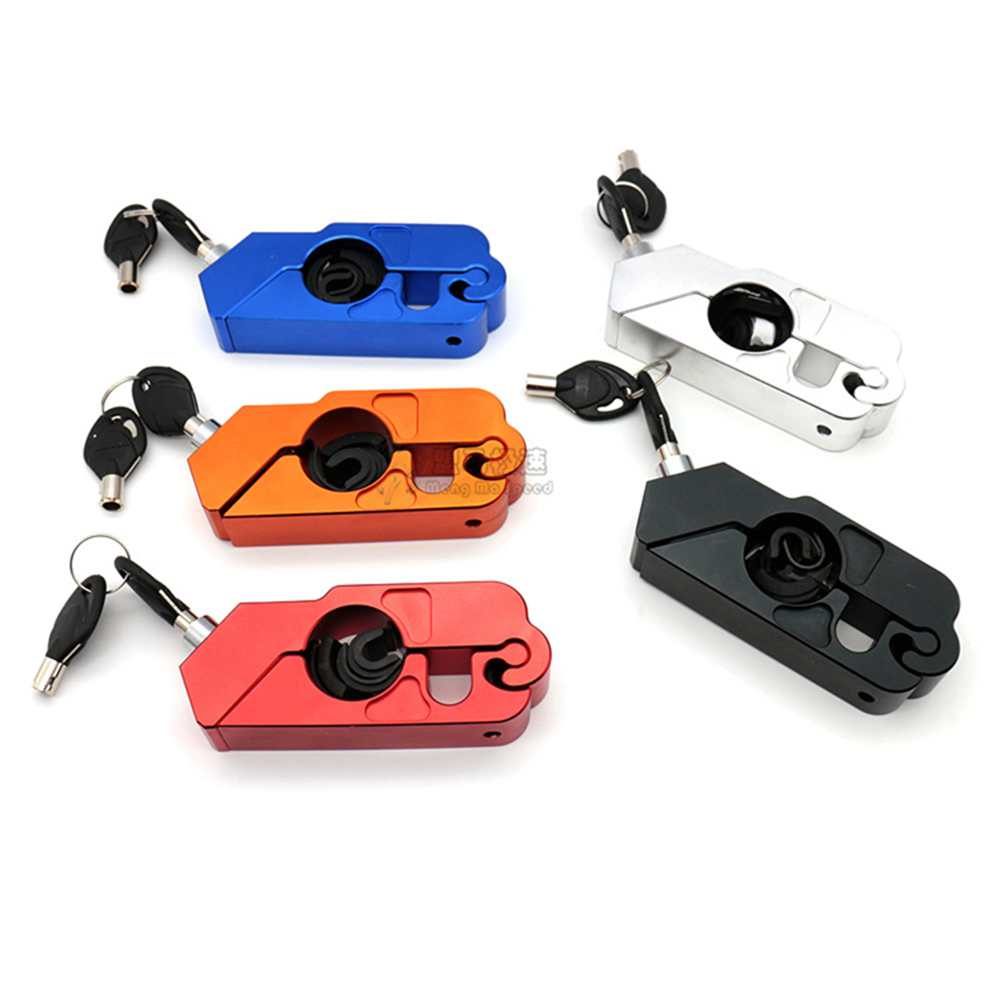 CNC Motorcycle Handlebar Lock Brake Lever Throttle Grip Security Lock Dirt Bike Scooter Handle Safety Lock Anti Theft Protection