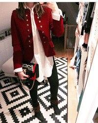 Jesień garnitur casual kurtki damskie z długim rękawem Slim krótki płaszcz dwurzędowy kobiet podstawowe małe garnitur brytyjski styl sweter topy 4