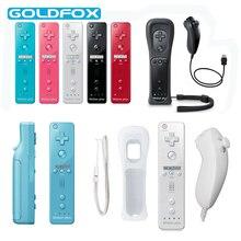 Gebaut-in Motion Plus Gamepad für Nintendo Wii Nunchuk Wireless Remote Controller für Nintend Wii mit Silikon Fall Joystick freude